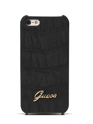 Guess Hard Case Croco for iPhone 5 – Matte Black (GUP5CMBL)_1-500×500